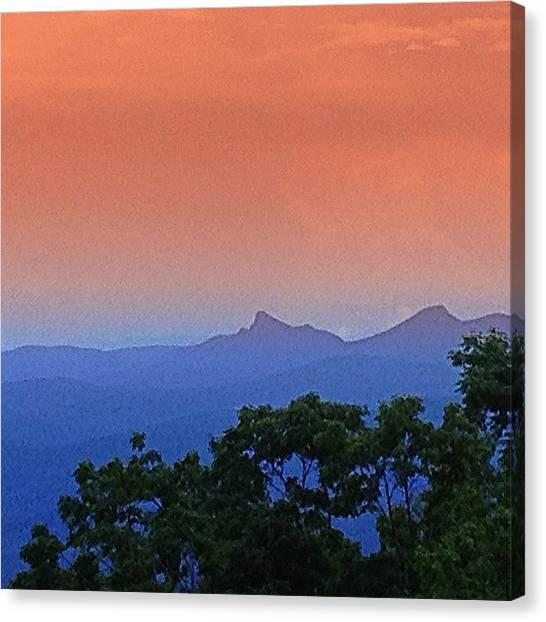 Appalachian Mountains Canvas Print - Face In The Mountains.  #mountain by Brandon Warren