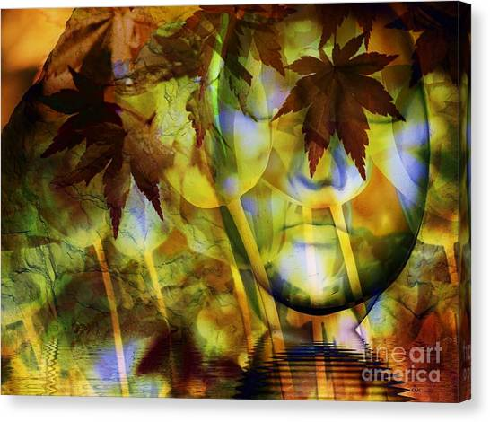 Imagery Canvas Print - Face In The Rock Dreams Of Tulips by Elizabeth McTaggart