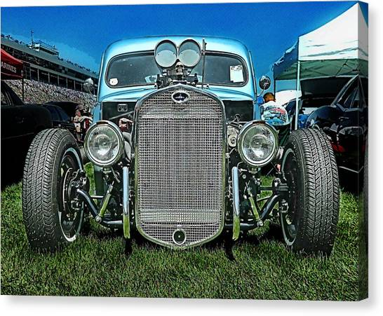 Face Of The Rat Rod Canvas Print