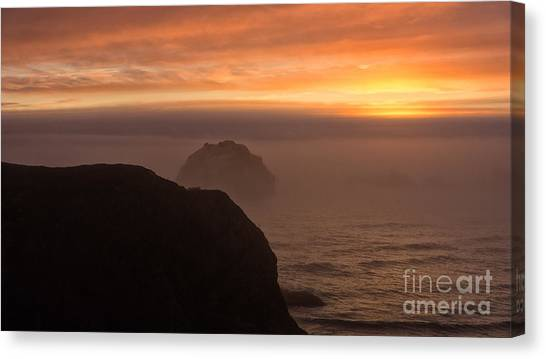 Face Out Of The Fog Canvas Print