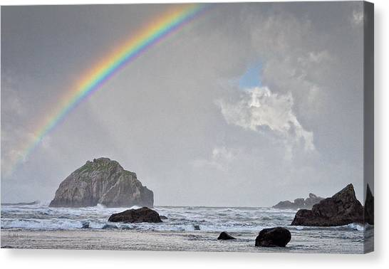Face Rock Rainbow Canvas Print