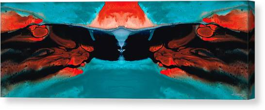 Karate Canvas Print - Face To Face - Abstract Art By Sharon Cummings by Sharon Cummings