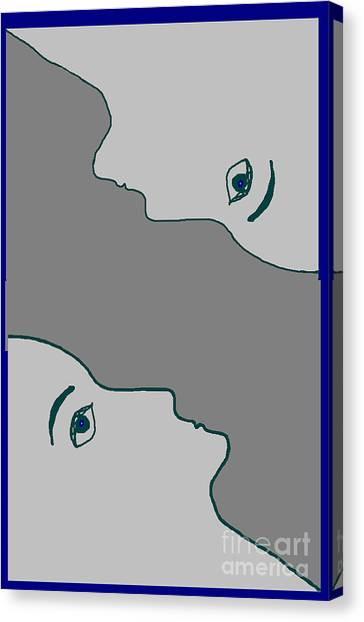 Face To Face Canvas Print by Meenal C