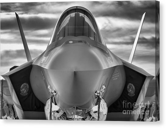 Face To Face With Stealth Canvas Print