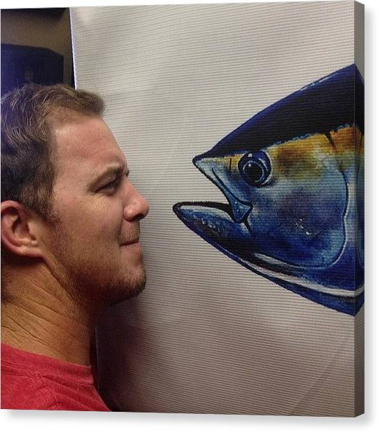 Tuna Canvas Print - Face To Face With The Studio Tuna by Slightly Stoopid