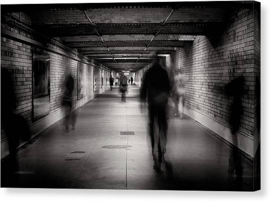Tunnels Canvas Print - Faceless #1 by Greg Morgan