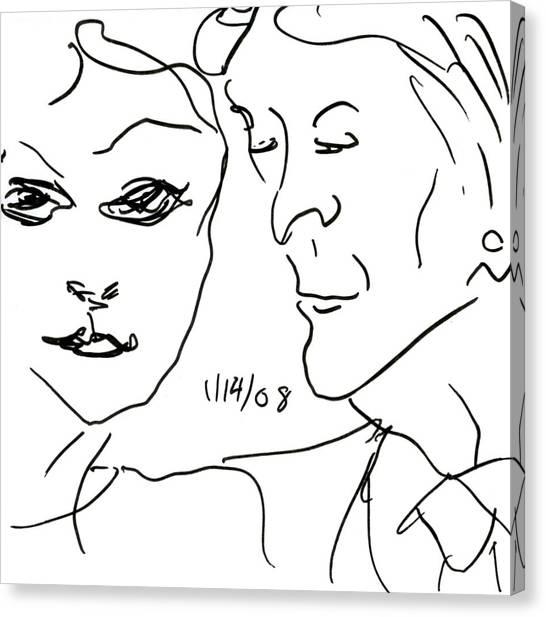 Faces II Canvas Print by Rachel Scott