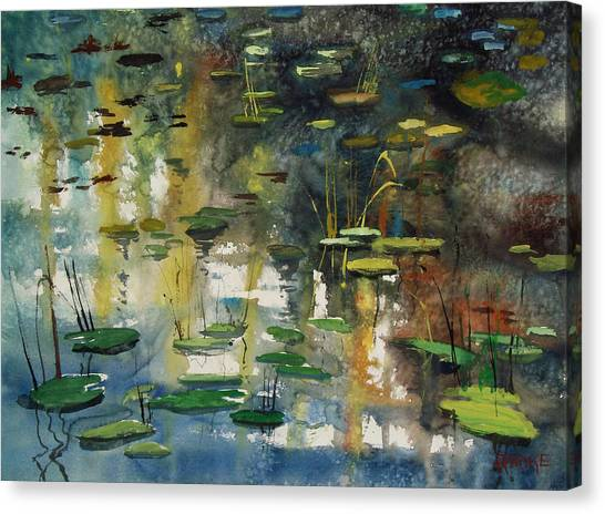 Abstract Lily Canvas Print - Faces In The Pond by Ryan Radke