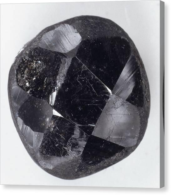 Gemstones Canvas Print - Faceted Bort Diamond by Dorling Kindersley/uig