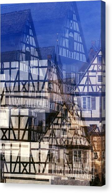 Fachwerk #1 Canvas Print by Angela Bruno