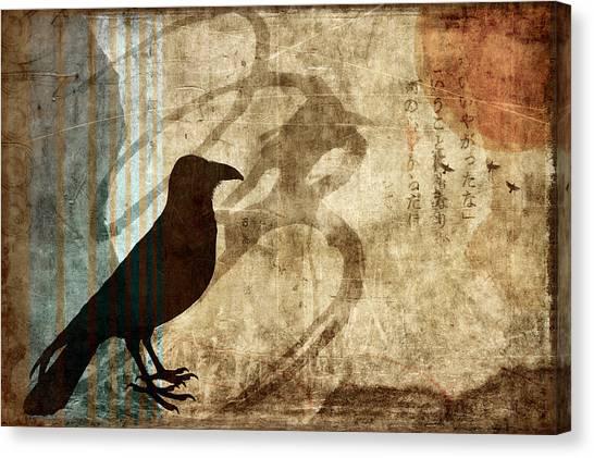 Blackbirds Canvas Print - Facing Future by Carol Leigh