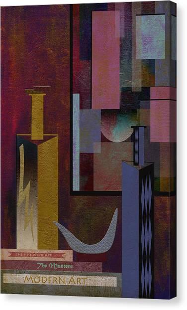 Frank Stella Canvas Print - Facing Modernism by Linda Dunn