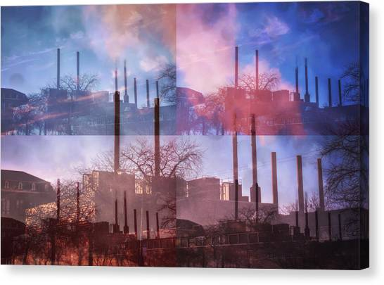 Loyola University Chicago Canvas Print - Factory Steam by Rhianna Mercier