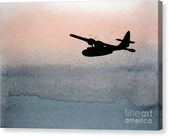 Fade Into Nothingness Pby Over Empty Sea Canvas Print