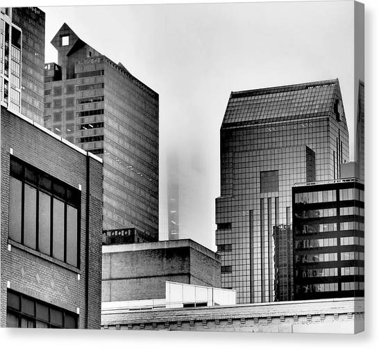 Philadelphia Skyline Canvas Print - Fade To Grey by Rona Black