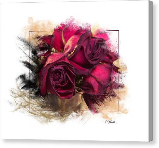 Fading Roses Canvas Print