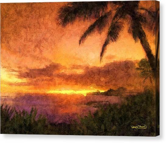 Fading Sunset Canvas Print by Wayne Pascall