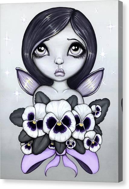 Big Eye Art Canvas Print - Fae Colours 7 by Elaina  Wagner
