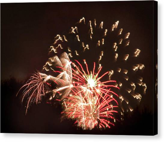 Faerie In The Fireworks Canvas Print