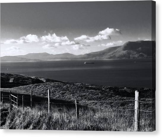 Fahane In Black And White Canvas Print