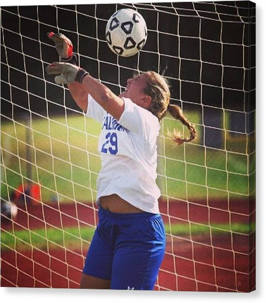 High School Canvas Print - #fail #soccer #sports #photoshoot by Jon Premosch
