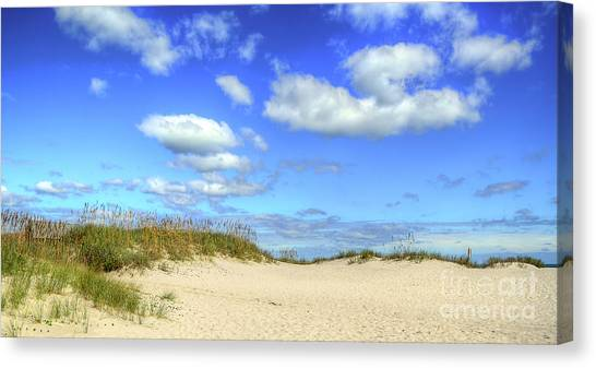 Fair Weather Along The Beach Canvas Print