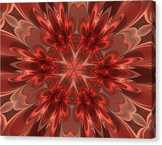 Fairest Of Them All Kaleidoscope Canvas Print