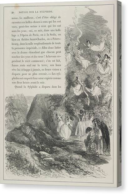 Mythological Creatures Canvas Print - Fairies by British Library