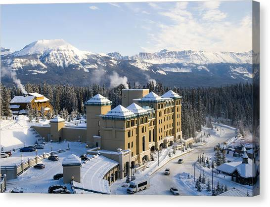 Fairmont Chateau Lake Louise Canvas Print
