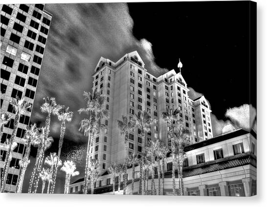 Fairmont From Plaza De Cesar Chavez Canvas Print