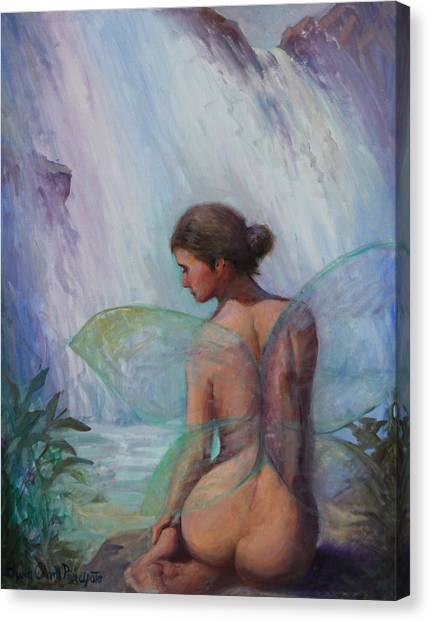 Fairy  Enchanted  Canvas Print by Gwen Carroll