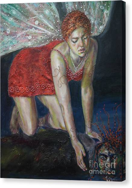 Fairy Faces Bugaboo Canvas Print