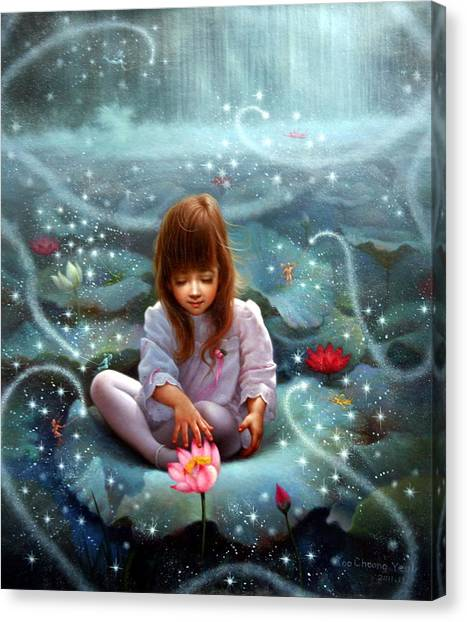 Girl And The Seven Fairy 3 Canvas Print
