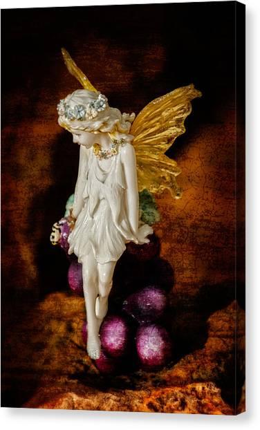 Fairy Of The Harvest Moon Canvas Print