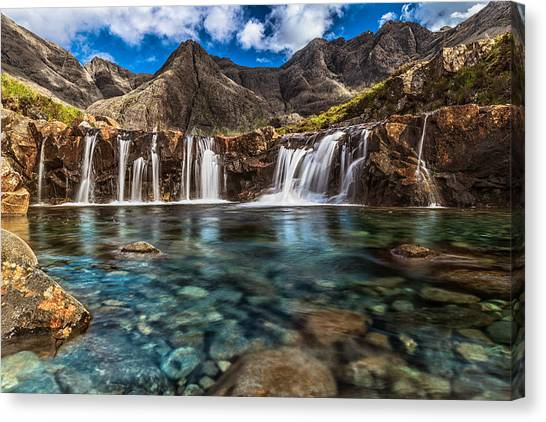 Fairy Pools Canvas Print by Sergio Del Rosso Photography