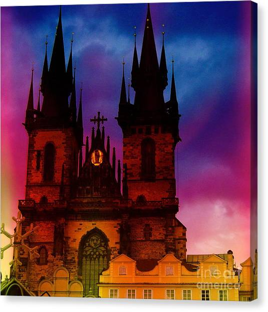 Fairy Tale Castle Prague Canvas Print