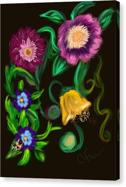Fairy Tale Flowers Canvas Print