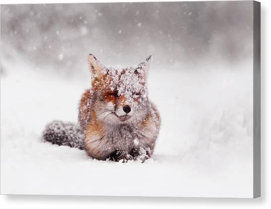 Winter Canvas Print - Fairytale Fox II by Roeselien Raimond