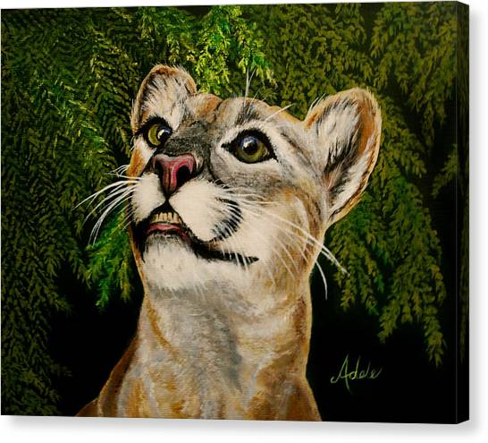 Florida Panthers Canvas Print - Faith by Adele Moscaritolo
