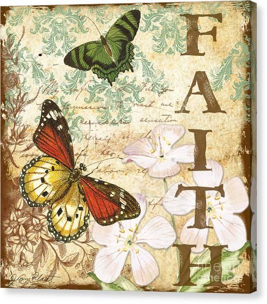 Faith And Butterflies Canvas Print