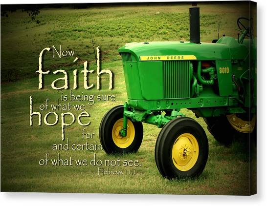 John Deere Canvas Print - Faith And Hope by Linda Fowler