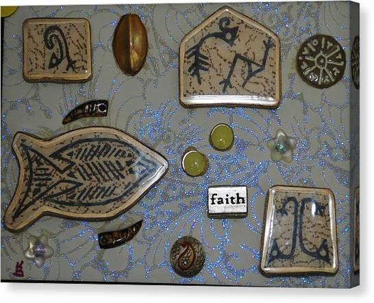 Faith Collage Canvas Print