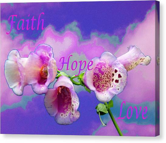 Faith-hope-love Canvas Print