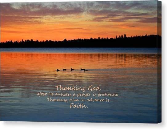 Faith In God Canvas Print