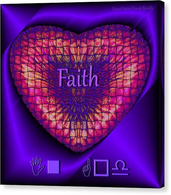 Canvas Print featuring the digital art Faith by Visual Artist Frank Bonilla