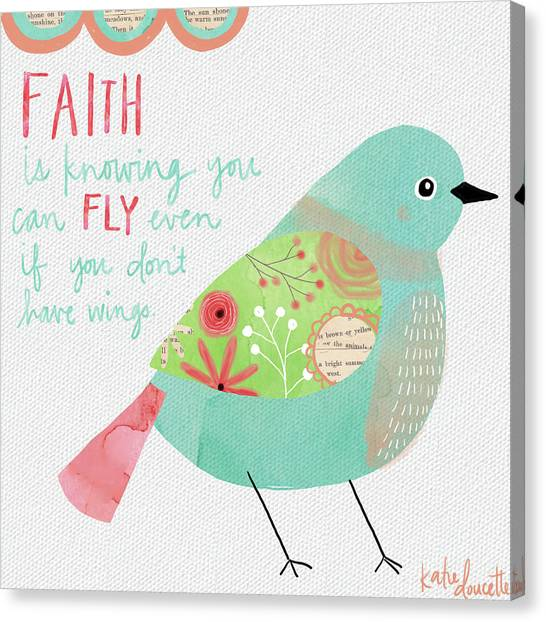 Whimsical Bird Canvas Prints   Fine Art America