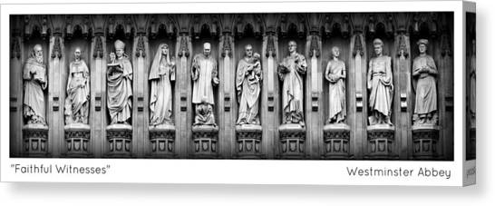 Westminster Abbey Canvas Print - Faithful Witnesses -- Poster 2 by Stephen Stookey