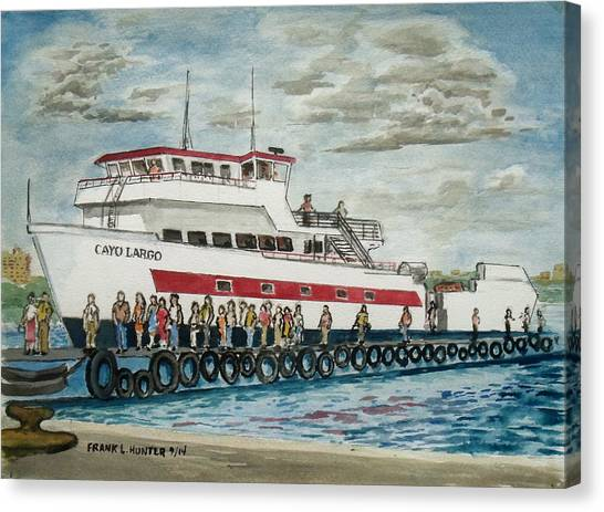 Fajardo Ferry From Vieques Puerto Rico Canvas Print