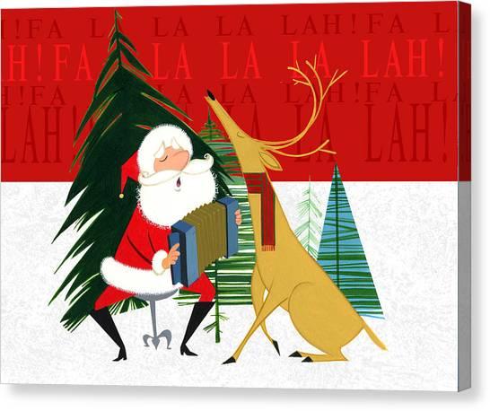 Holidays Canvas Print - Falalalalah by Michael Humphries