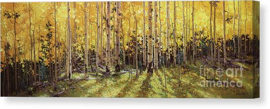 Kim Canvas Print - Fall Aspen Panorama by Gary Kim
